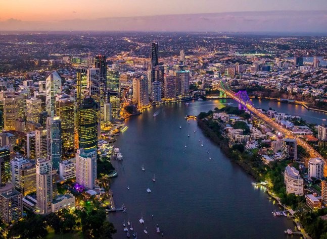 Brisbane Aerial Courtesy of Brisbane Marketing